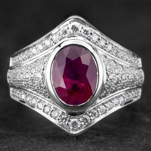 """Auksinis žiedas su Brangakmeniais """"Aristokratas IX"""""""