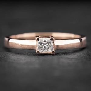 """Sužadėtuvių žiedas su Deimantu """"Princess 18"""""""