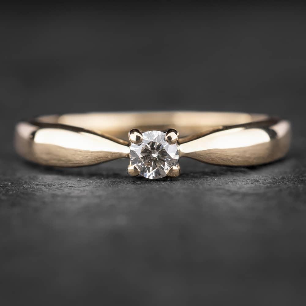 """Sužadėtuvių žiedas su Deimantu """"The Diamond 41"""""""