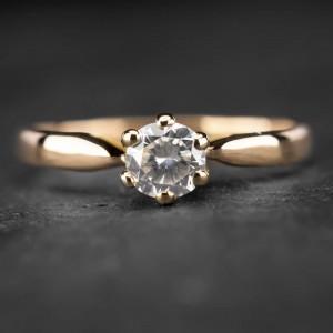 """Sužadėtuvių žiedas su Briliantu """"Nuoširdžioji 15"""""""