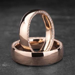 """Vestuviniai žiedai su Briliantais """"Klasika 4"""""""