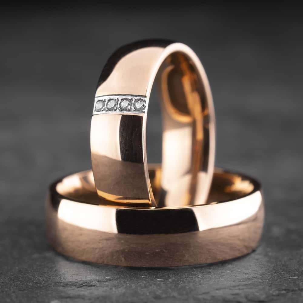 """Vestuviniai žiedai su Briliantais """"Klasika 5"""""""