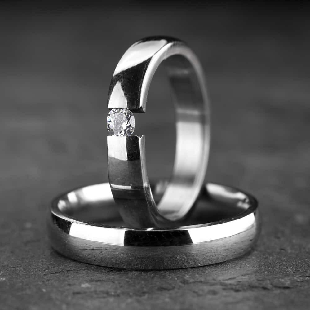 """Vestuviniai žiedai su Briliantu """"Klasika 6"""""""