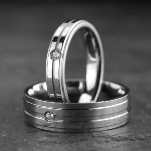 """Vestuviniai žiedai su Briliantais """"Modernūs 3"""""""