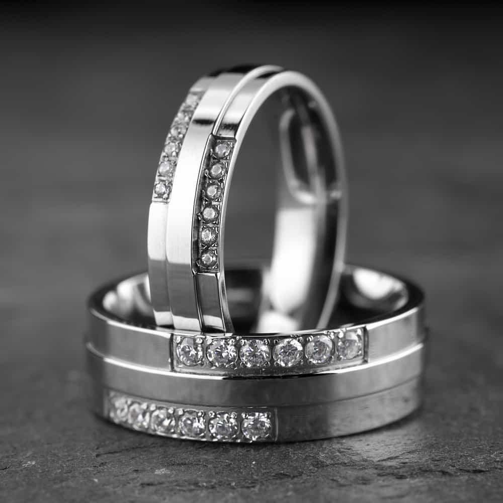 """Vestuviniai žiedai su Briliantais """"Modernūs 6"""""""