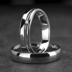 """Vestuviniai žiedai su Briliantu """"Klasika 8"""""""