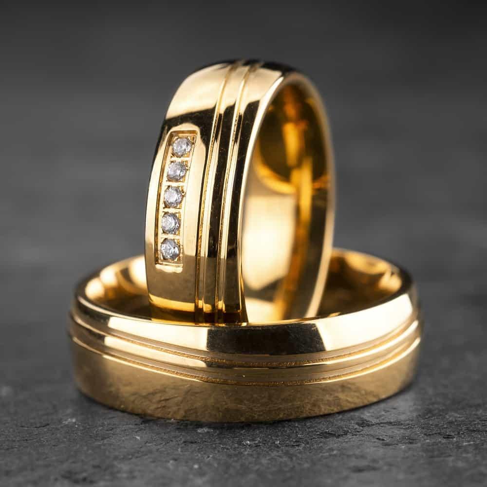 """Vestuviniai žiedai su Briliantais """"Klasika 9"""""""
