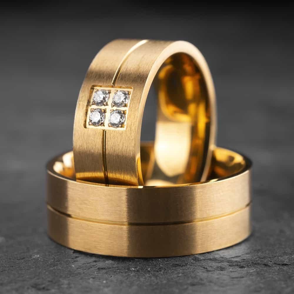 """Vestuviniai žiedai su Briliantais """"Modernūs 8"""""""