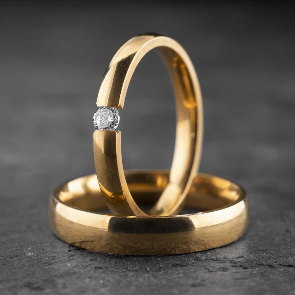 """Vestuviniai žiedai su Briliantu """"Klasika 10"""""""