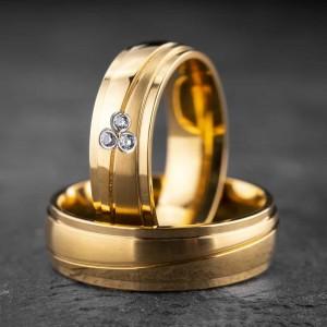 """Vestuviniai žiedai su Briliantais """"Klasika 11"""""""