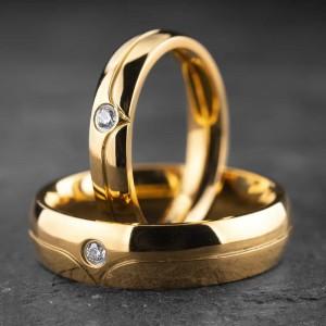 """Vestuviniai žiedai su Briliantais """"Klasika 12"""""""