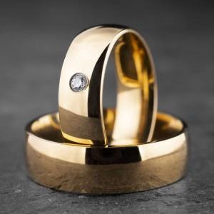"""Vestuviniai žiedai su Briliantu """"Klasika 13"""""""