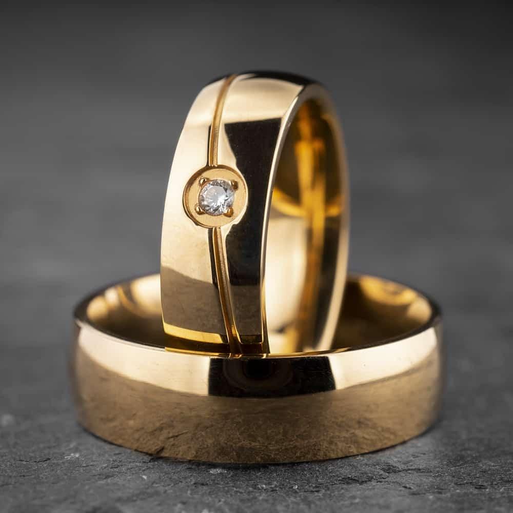 """Vestuviniai žiedai su Briliantu """"Klasika 14"""""""