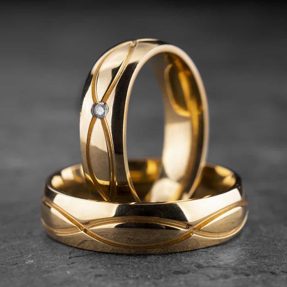 """Vestuviniai žiedai su Briliantu """"Klasika 15"""""""