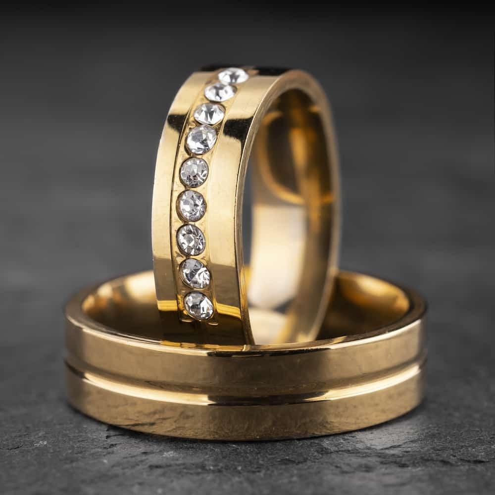 """Vestuviniai žiedai su Briliantais """"Modernūs 9"""""""