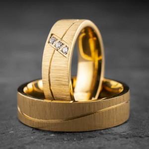 """Vestuviniai žiedai su Briliantais """"Modernūs 11"""""""