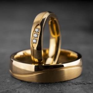 """Vestuviniai žiedai su Briliantais """"Klasika 16"""""""