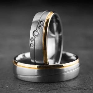 """Vestuviniai žiedai su Briliantais """"Klasika 17"""""""