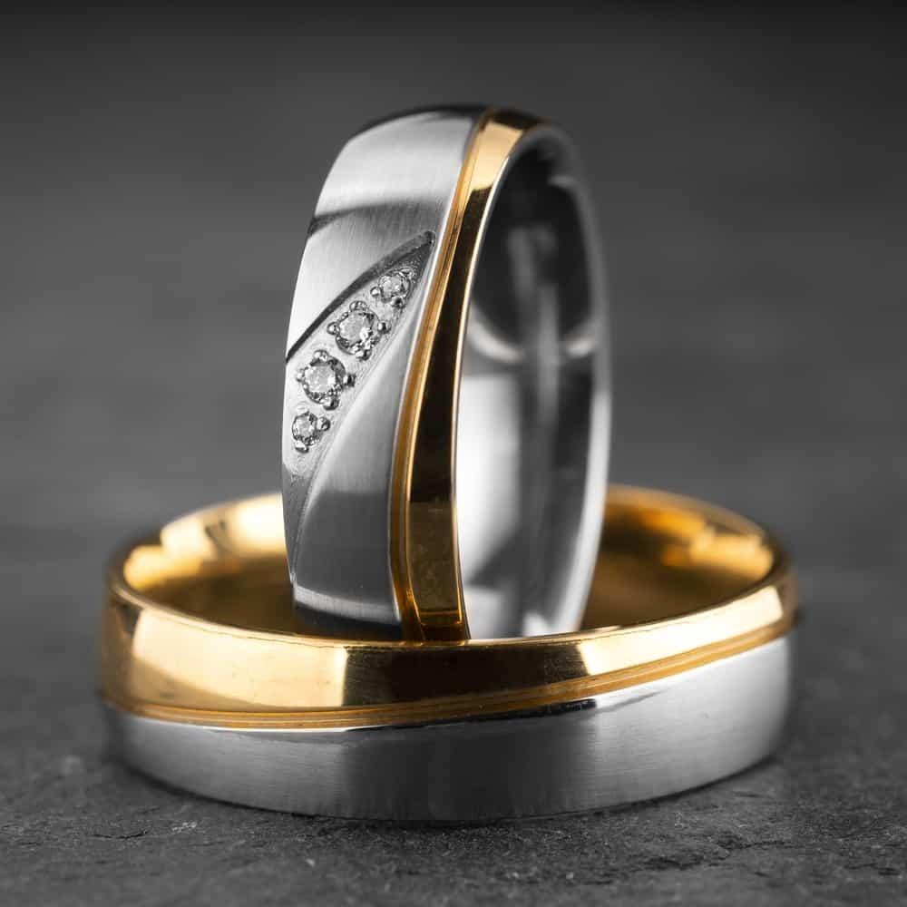 """Vestuviniai žiedai su Briliantais """"Klasika 19"""""""