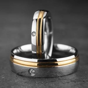 """Vestuviniai žiedai su Briliantais """"Klasika 21"""""""