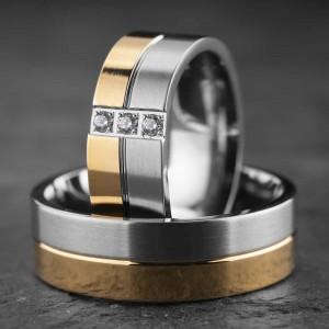 """Vestuviniai žiedai su Briliantais """"Modernūs 14"""""""