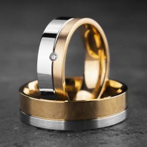 """Vestuviniai žiedai su Briliantais """"Modernūs 15"""""""
