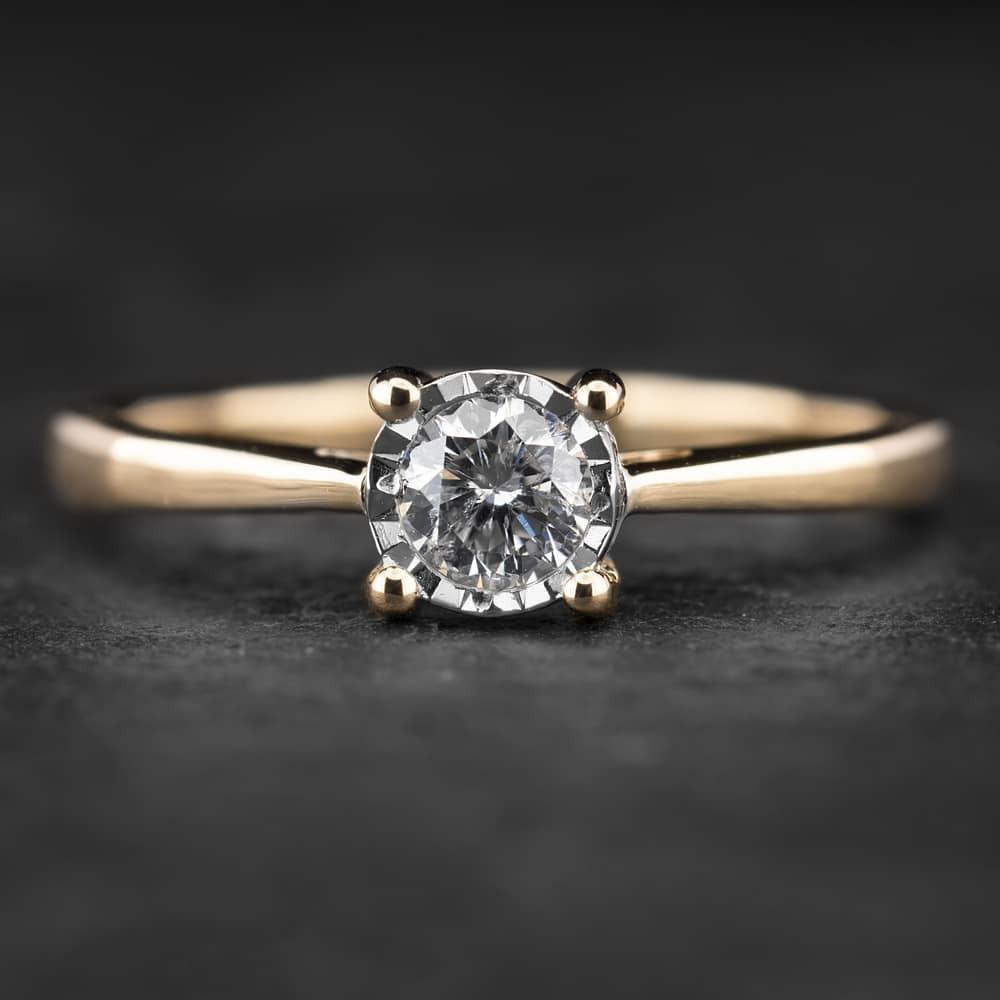 """Sužadėtuvių žiedas su Briliantu """"Nuostabusis 9"""""""