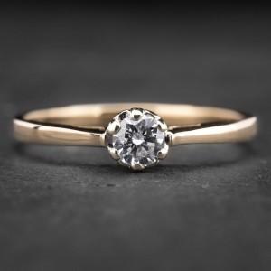"""Sužadėtuvių žiedas su Briliantu """"Kunigaikštytė 60"""""""