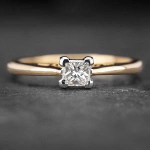 """Sužadėtuvių žiedas su Deimantu """"Princess 20"""""""