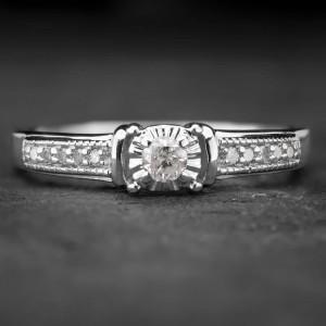 """Sužadėtuvių žiedas su Deimantais """"The Elegance 20"""""""