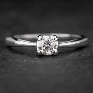 """Sužadėtuvių žiedas su Briliantu """"The Goddess 21"""""""