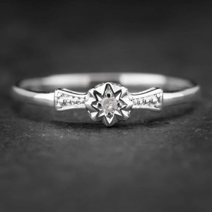 """Sužadėtuvių žiedas su Briliantu """"The Sun 6"""""""
