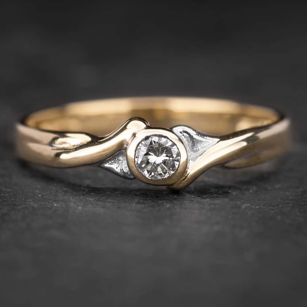"""Sužadėtuvių žiedas su Briliantu """"Sweetness 8"""""""