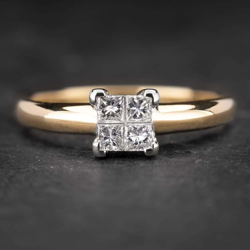 """Sužadėtuvių žiedas su Briliantu """"Princesses 20"""""""