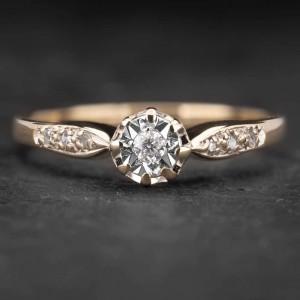 """Sužadėtuvių žiedas su Deimantais """"The Sun 8"""""""