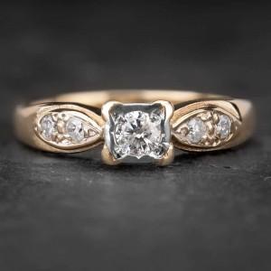 """Sužadėtuvių žiedas su Briliantais """"The Elegance 23"""""""