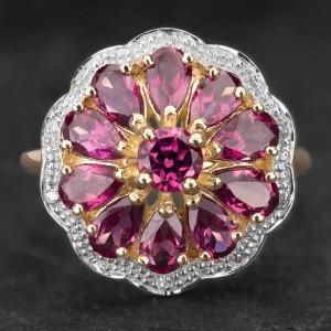 """Auksinis žiedas su Brangakmeniais """"The Flower"""""""
