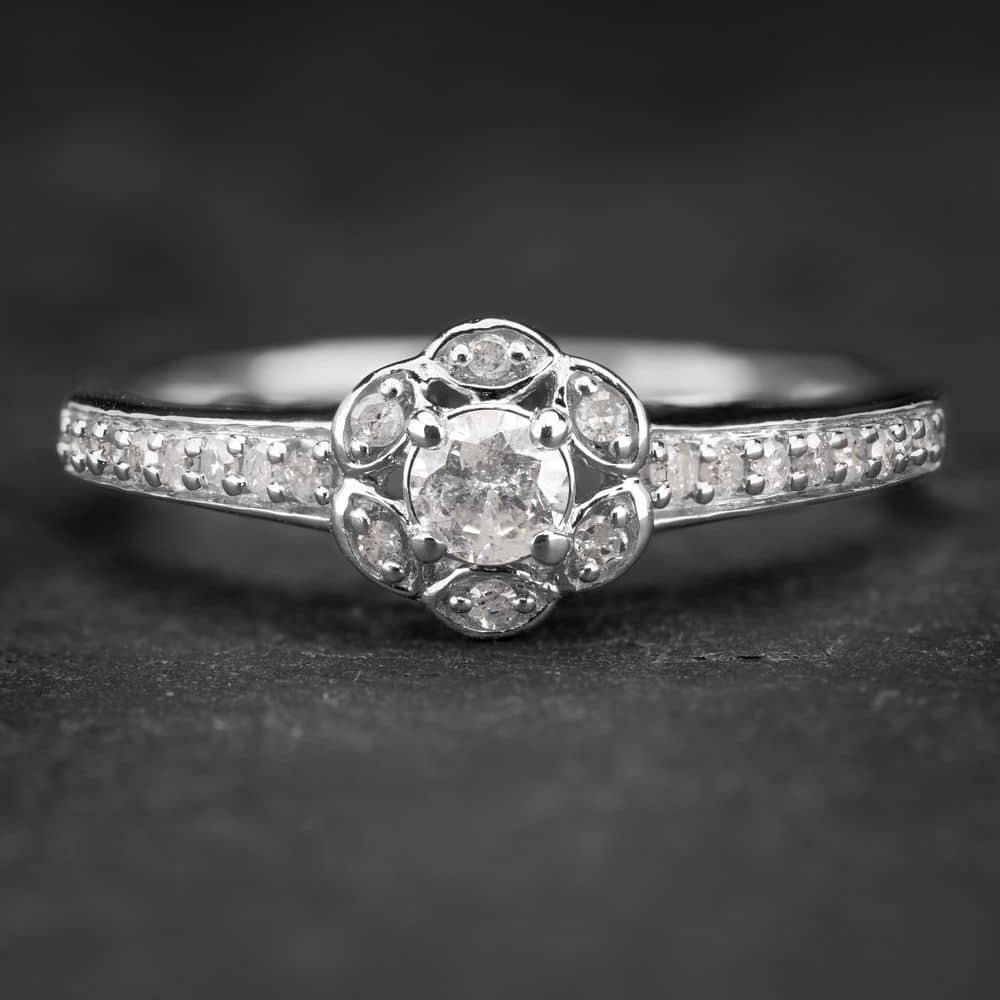 """Sužadėtuvių žiedas su Briliantu """"Shiny Flower 6"""""""