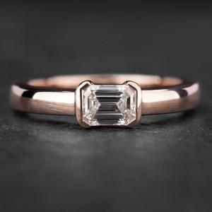 """Sužadėtuvių žiedas su Briliantu """"Santūrumas"""""""