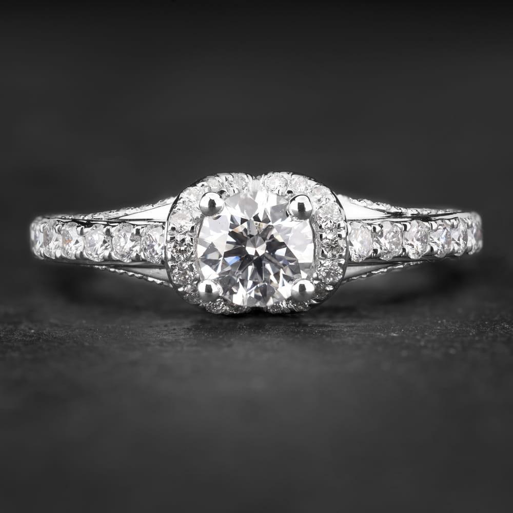 """Auksinis žiedas su Briliantais """" Tiara 16"""""""
