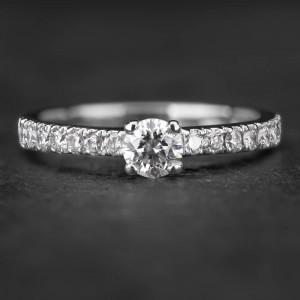 """Auksinis žiedas su Briliantais """"Tiara 17"""""""
