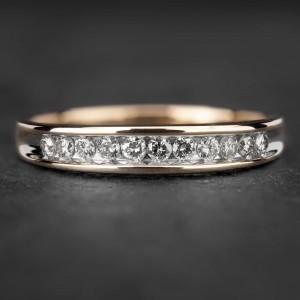 """Auksinis žiedas su Briliantais """"Deimantinė Juostelė 15"""""""