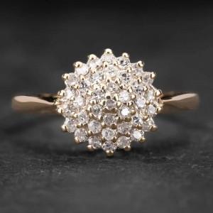 """Auksinis žiedas su Briliantais """"Shiny Bunch 17"""""""