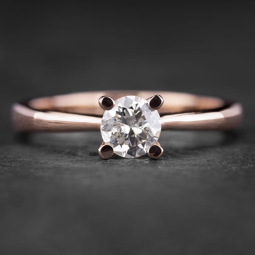 """Sužadėtuvių žiedas su Briliantu """"The Goddess 22"""""""