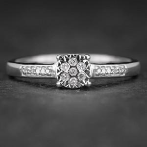 """Sužadėtuvių žiedas su Deimantais """"The Sun 15"""""""