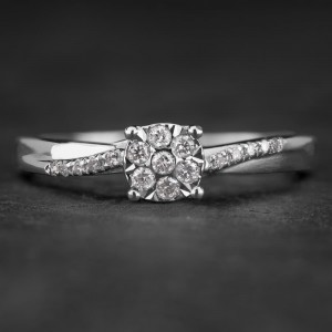 """Sužadėtuvių žiedas su Deimantais """"The Sun 16"""""""