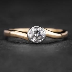 """Sužadėtuvių žiedas su Briliantu """"Sweetness 13"""""""