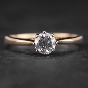 """Sužadėtuvių žiedas su Briliantu """"Kunigaikštytė 62"""""""