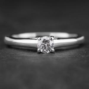 """Sužadėtuvių žiedas su Briliantu """"Fortune 3"""""""