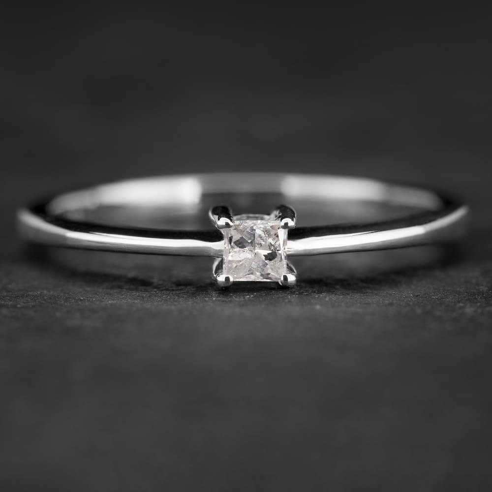 """Sužadėtuvių žiedas su Deimantu """"Princess 23"""""""